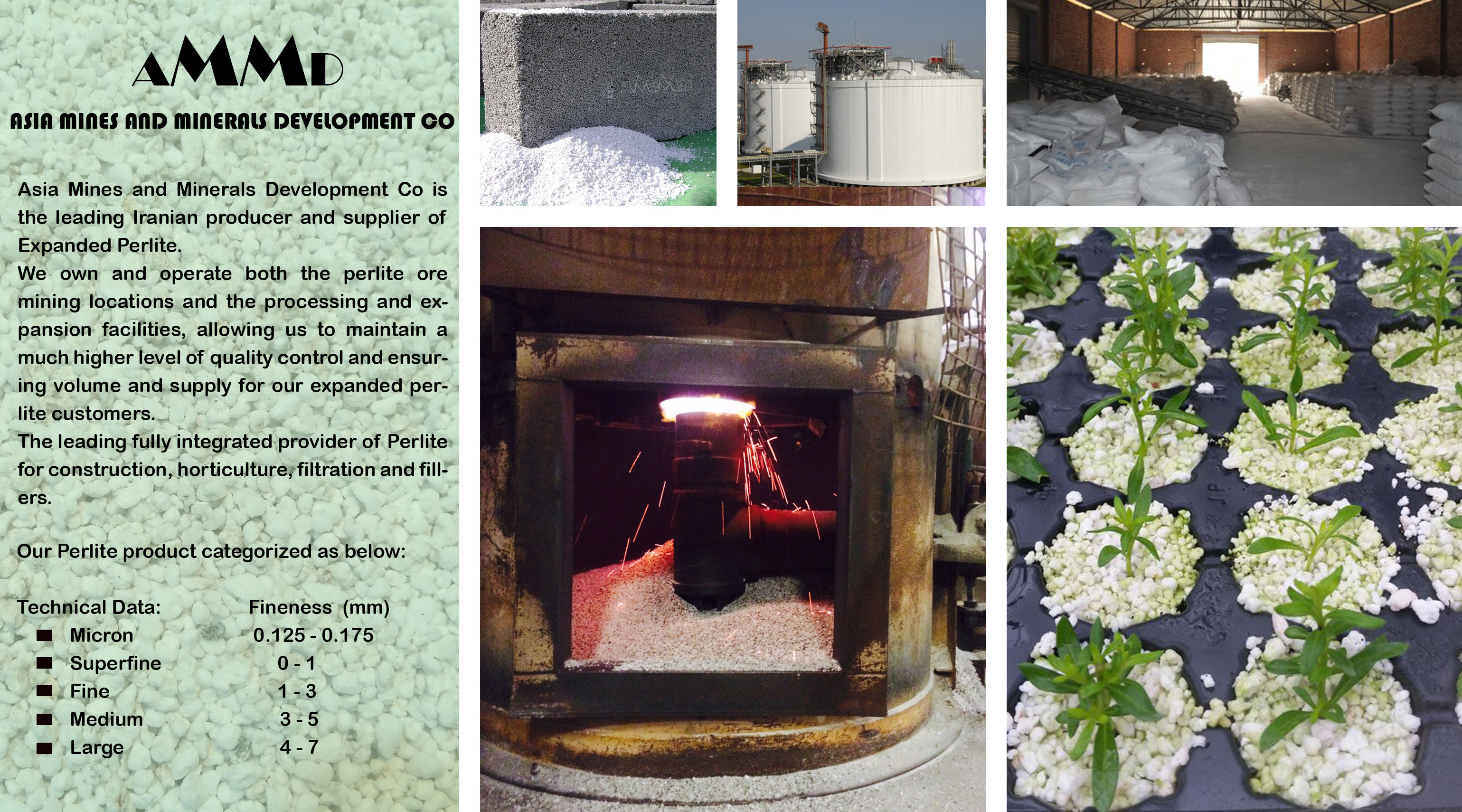 perlite producer and supplier has own mine and manufacture in iran export perlite expanded to asia turkey iraq uae saudi arabia india china