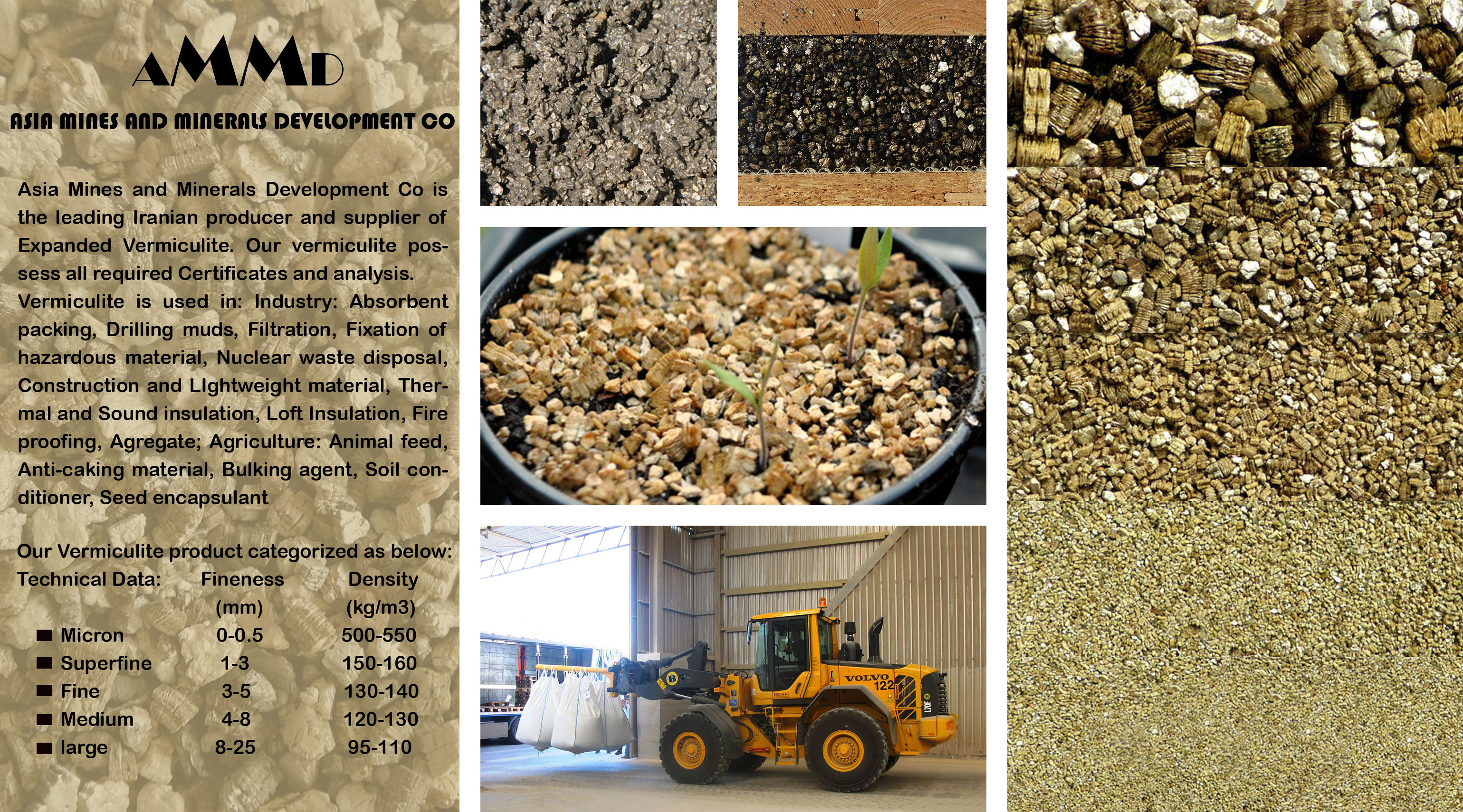 vermiculite Asia Mines and Minerals Development Co is the leading Iranian producer and supplier of Expanded Vermiculite. Our vermiculite possess all required Certificates and analysis. raw vermiculite export iran